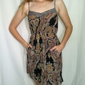 XHILARATION Paisley and Leopard Print Dress